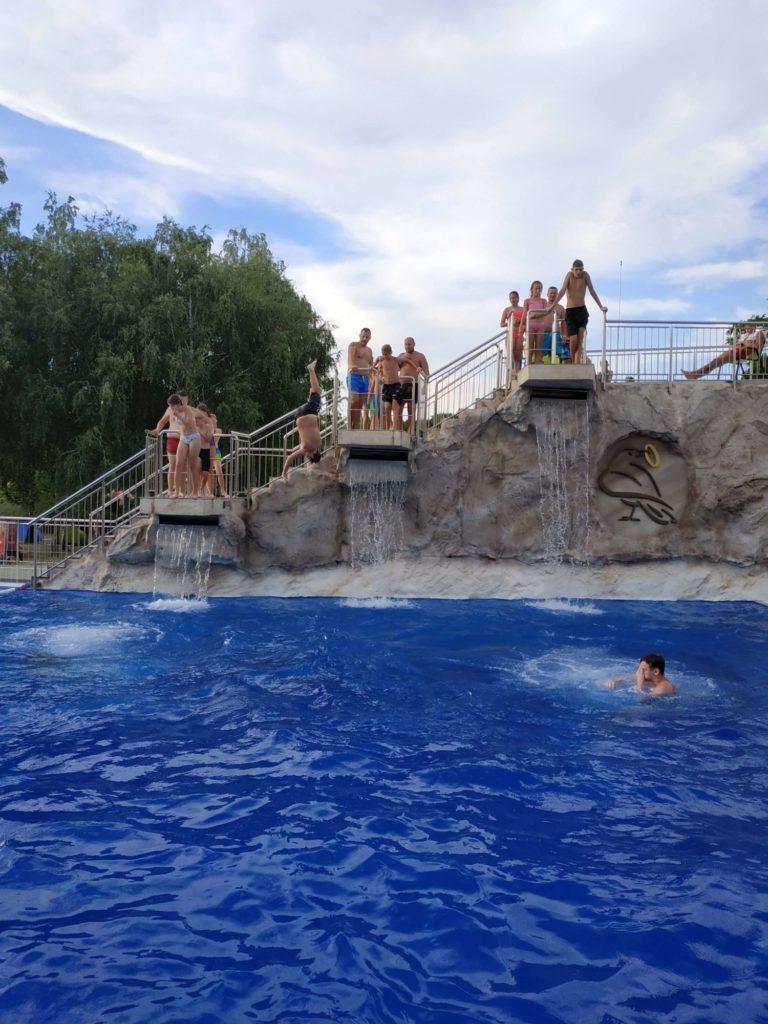 skokanský bazén Veľký Meder