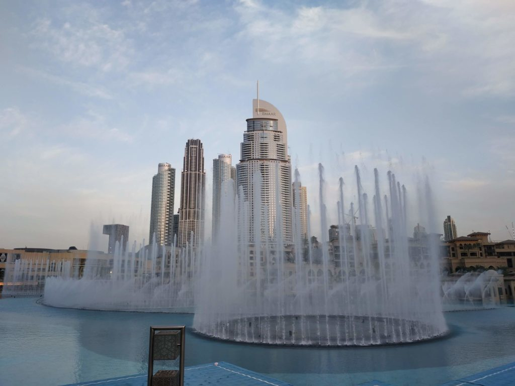 Dubaj fontána Dubaj Mall