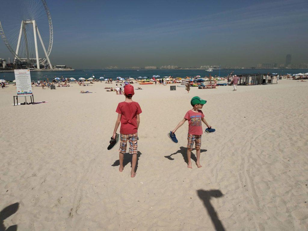 Dubaj pláž Jumeirah